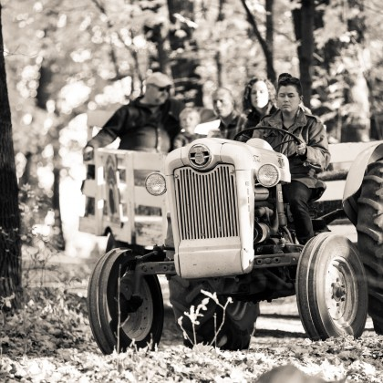 Tractor ride at Minnetonka Orchards