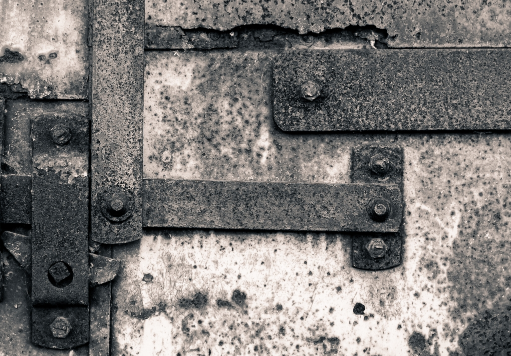Rusted Hinge at Mill City Museum